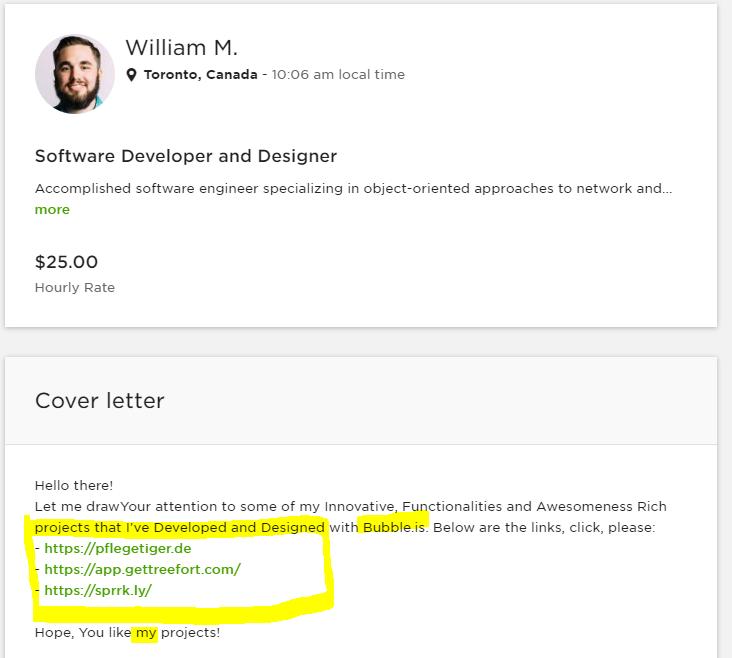 Upwork Bubble freelancer warning - Freelance - Bubble Forum