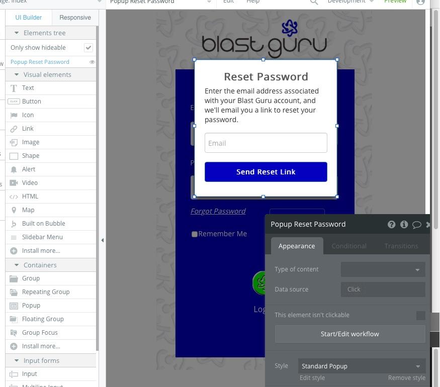 Password Reset Tool - Need help - Bubble Forum
