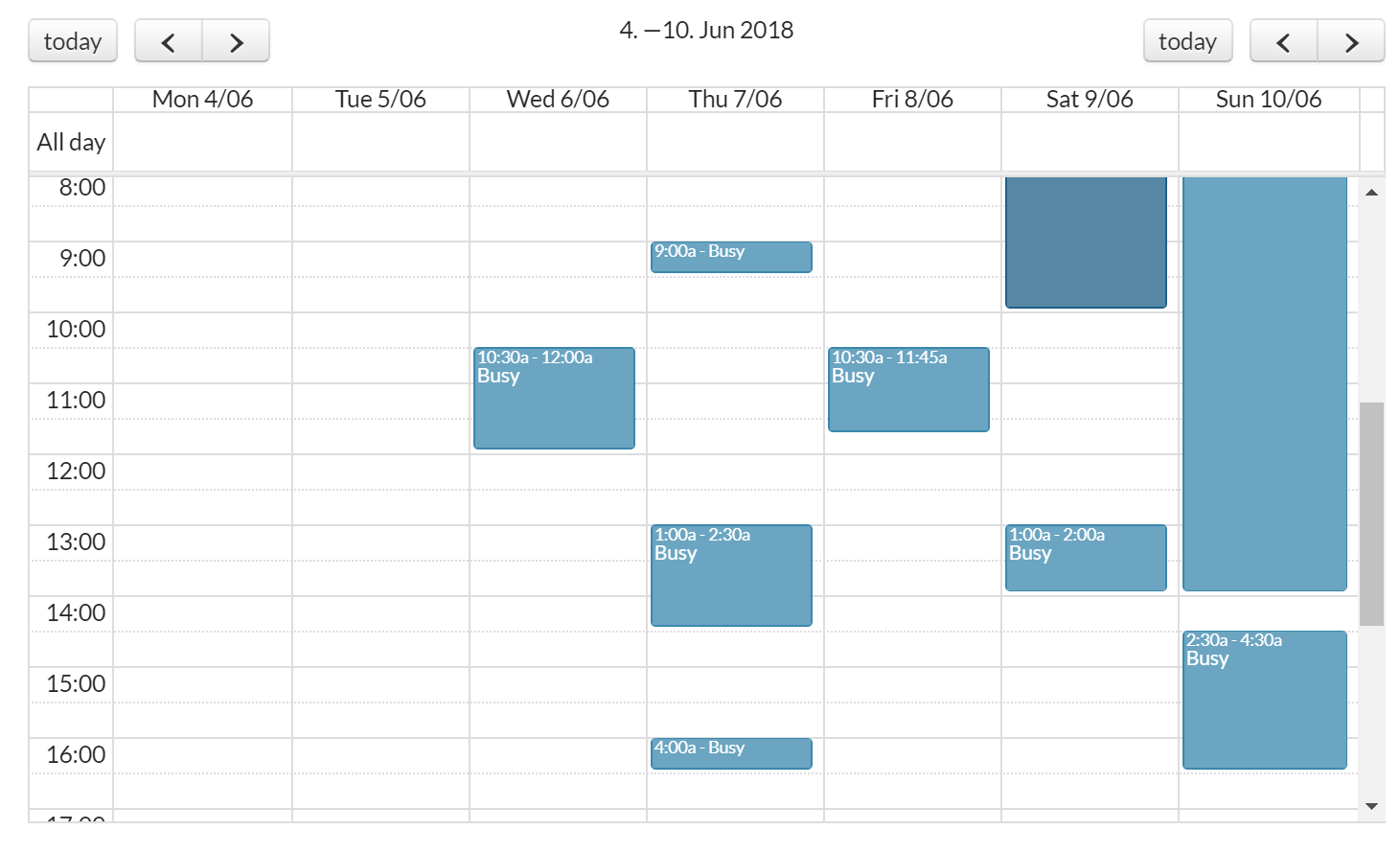 FullCalendar Events Showing Only A M - Plugins - Bubble Forum