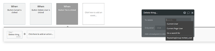 Unable to click current cell's invited user