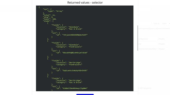 JSON for database