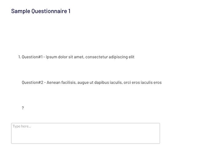 questionnnaire