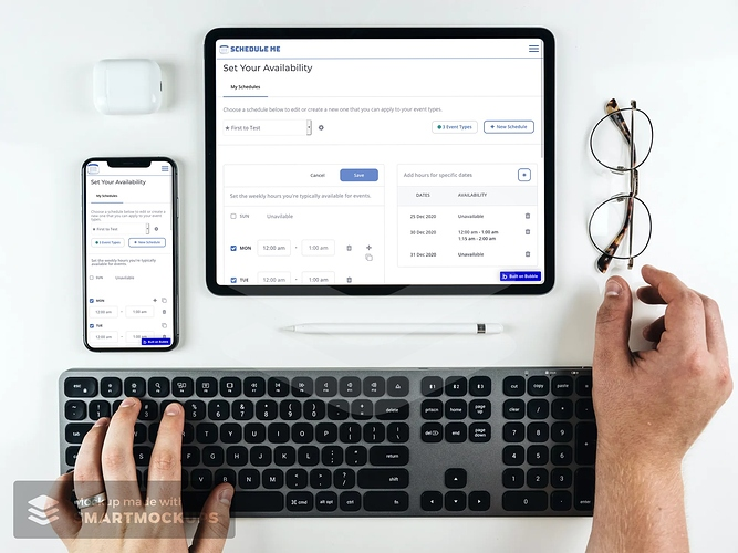 Create Schedule Mockup iPhone and iPad