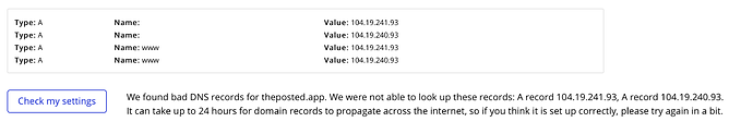 Bubble DNS error