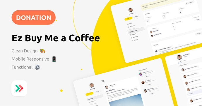 Ez Buy Me a Coffee template by EzCode