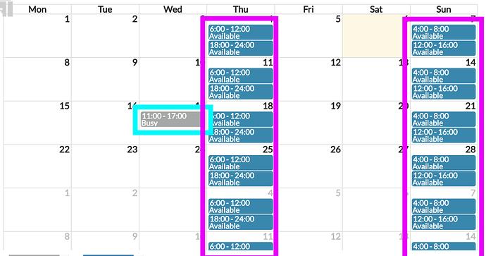 prev calendar
