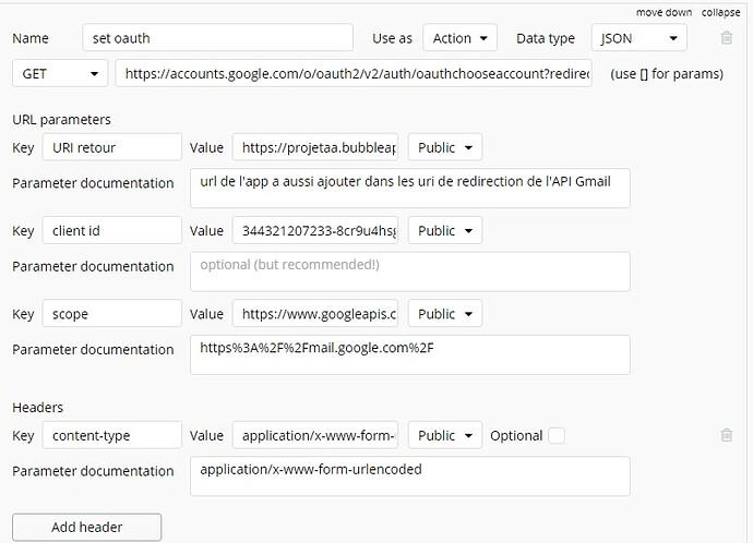 set oauth google gmail