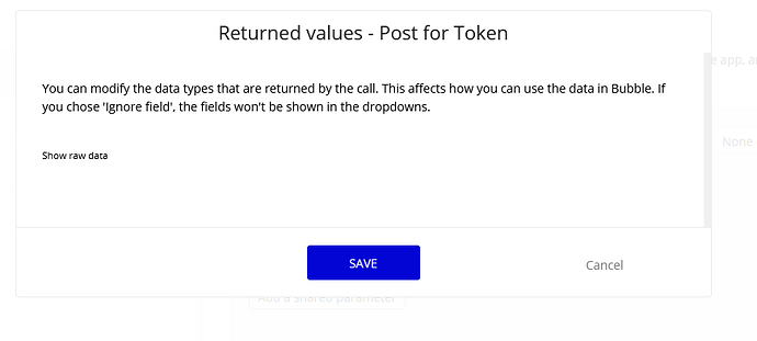 Returned Values blank