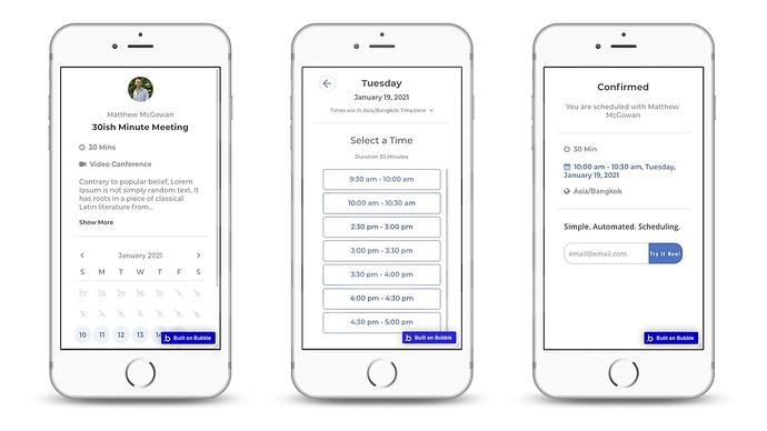 Schedule Meeting Mobile Mockup