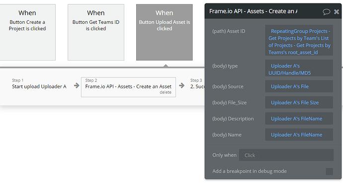 Frame.io API Create an Asset Workflow