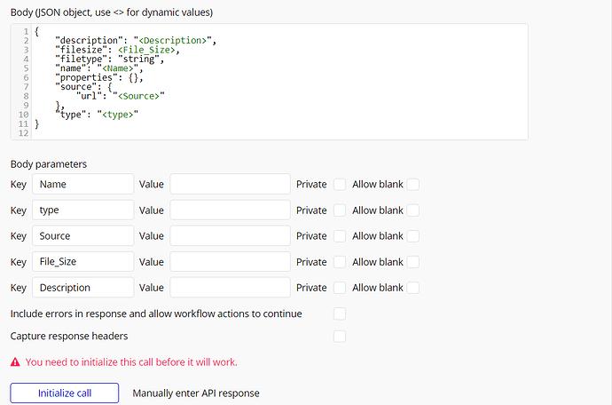 Frame.io Initlialize API call