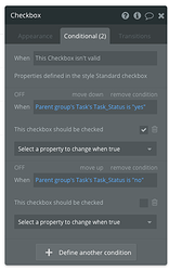 Checkbox Conditional