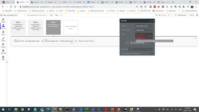 GVAPI Workflow Set Element
