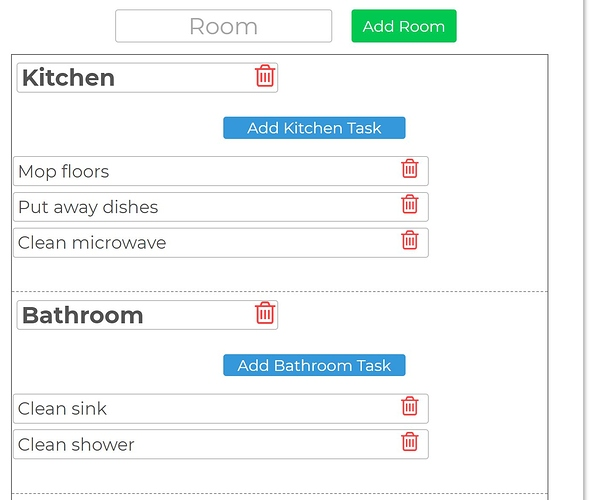 Add room and task