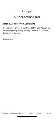 GoogleAuthError