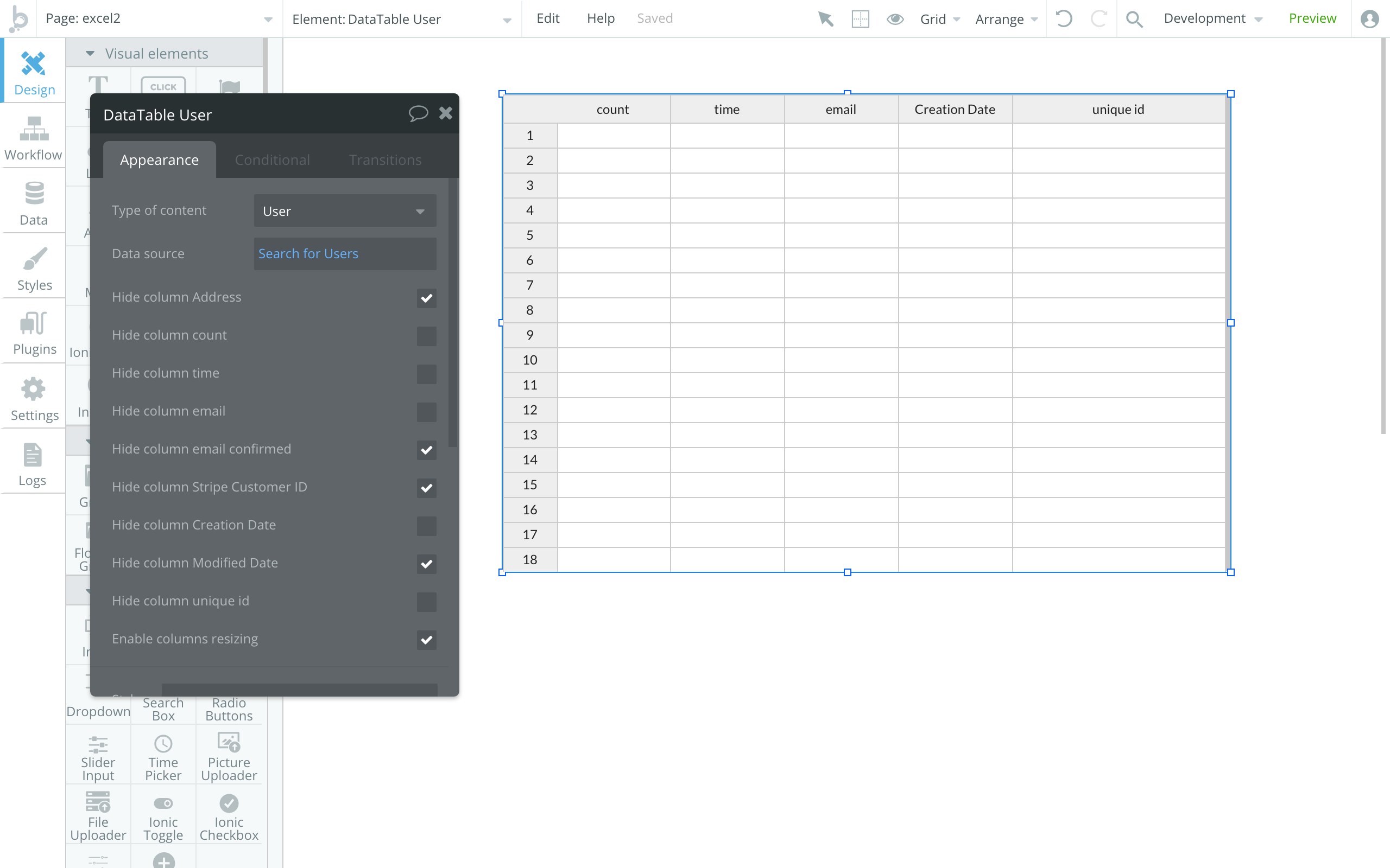 New Feature] Excel-like table - Announcements - Bubble Forum