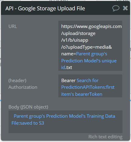Uploading Files from Bubble S3 to Third Party via Workflow - APIs