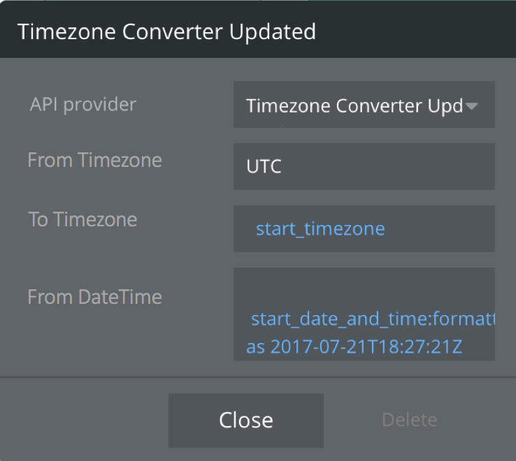 Open Block for Converting Timezones - Showcase - Bubble Forum