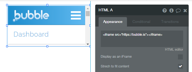 Is it possible to embedded Bubble page in an iFrame
