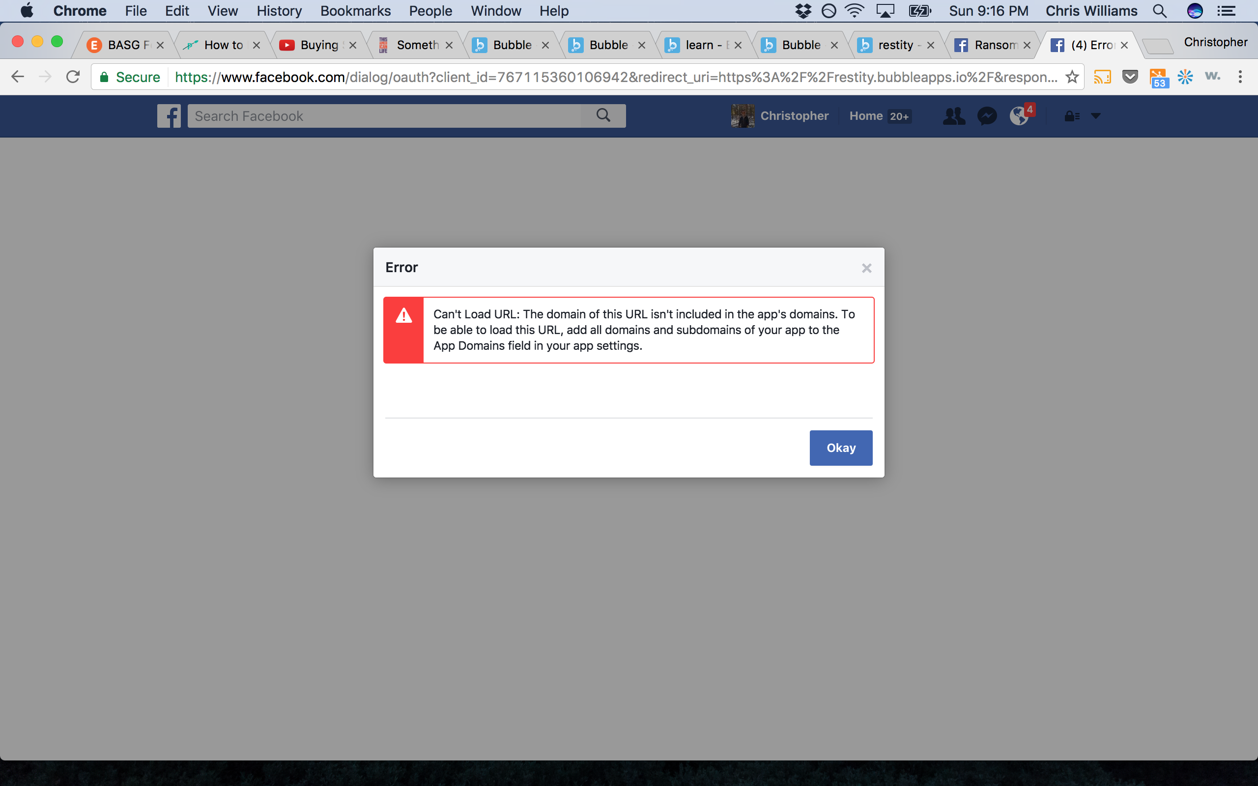 SOLVED] FB Login domain problem - Need help - Bubble Forum