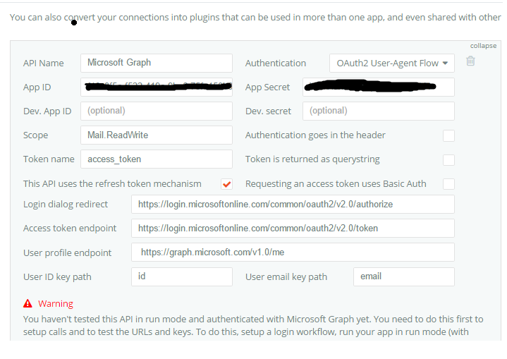 Anyone built an API plugin for Microsoft Graph yet