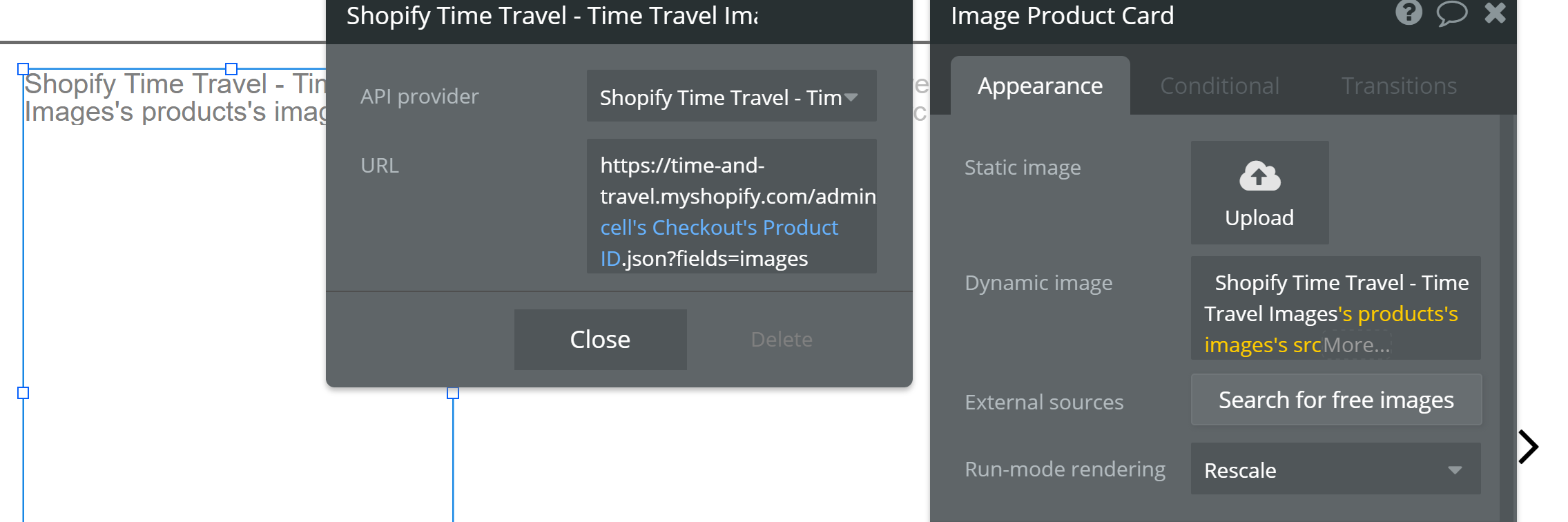 Display an Image Constructed from Two Separate Data Sources