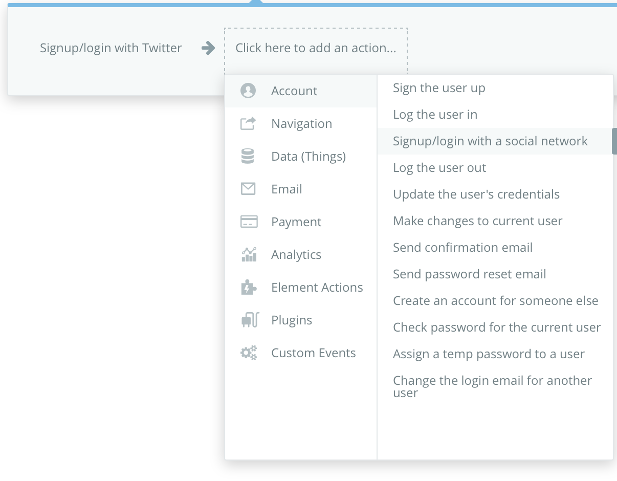 Twitter API does not appear in list of external api's - APIs