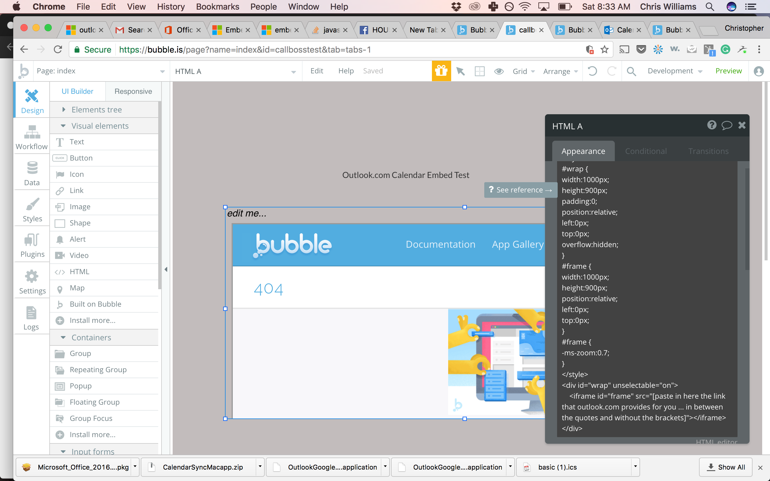 Problem Embedding Outlook Calendar on Bubble with <iframe> - Need