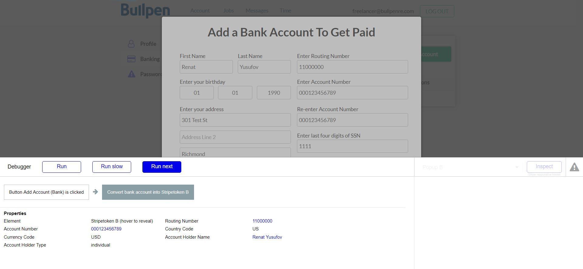 Stripe js Stripetoken Error w/ Bank Account Token - Plugins