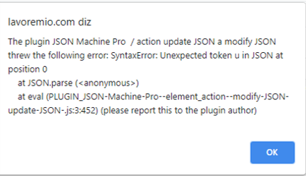 JSON Machine Error