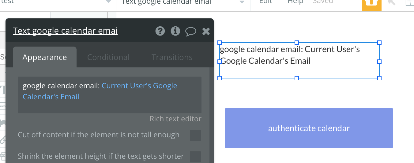 Problem Showing Google Calendar Data In Rg Apis Bubble Forum