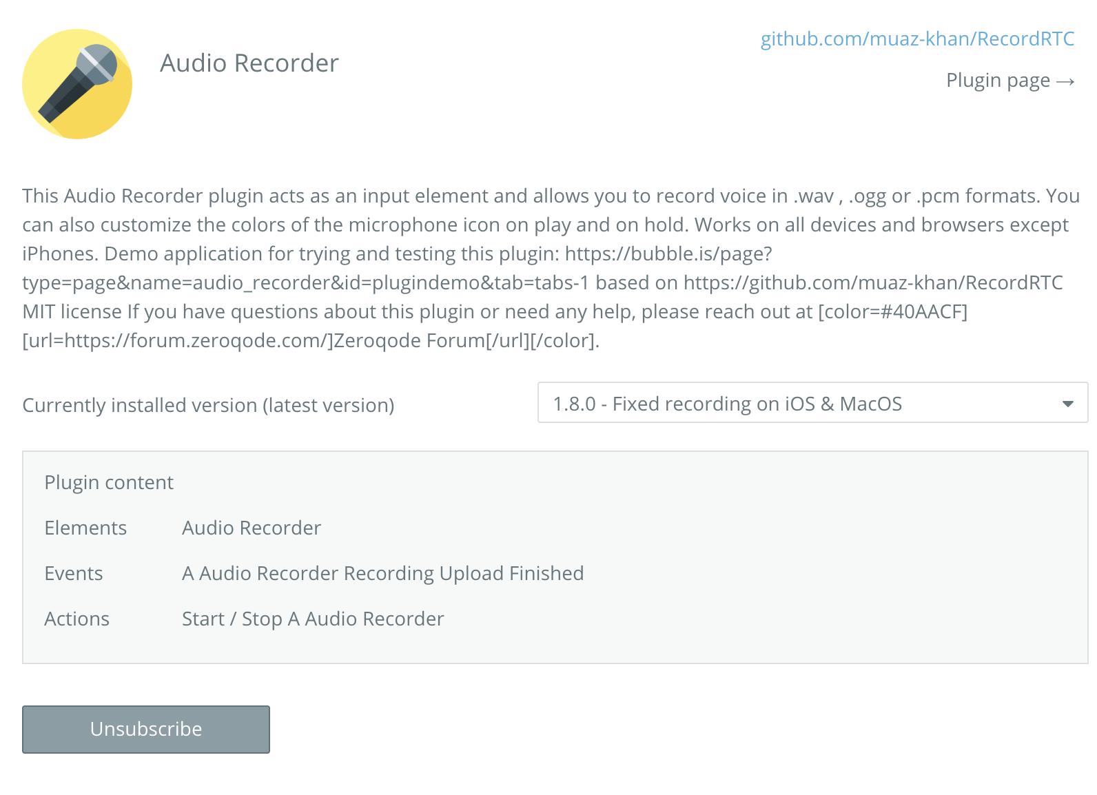 Audio Recorder - New Plugin from Zeroqode - Showcase
