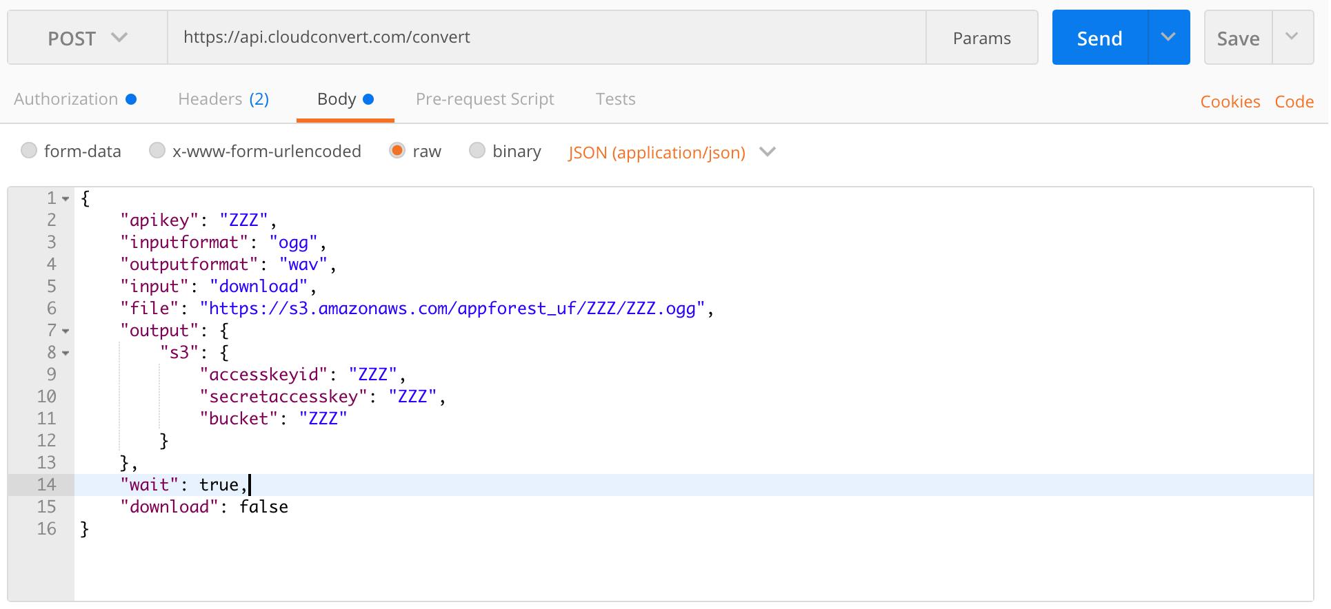 CloudConvert API: Call not working properly - APIs - Bubble Forum