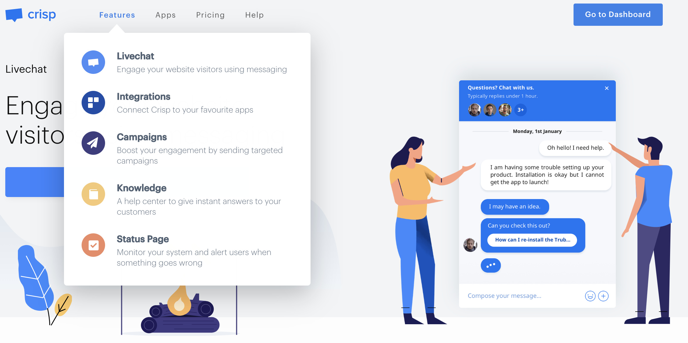 chatbot website platforms - crispchat