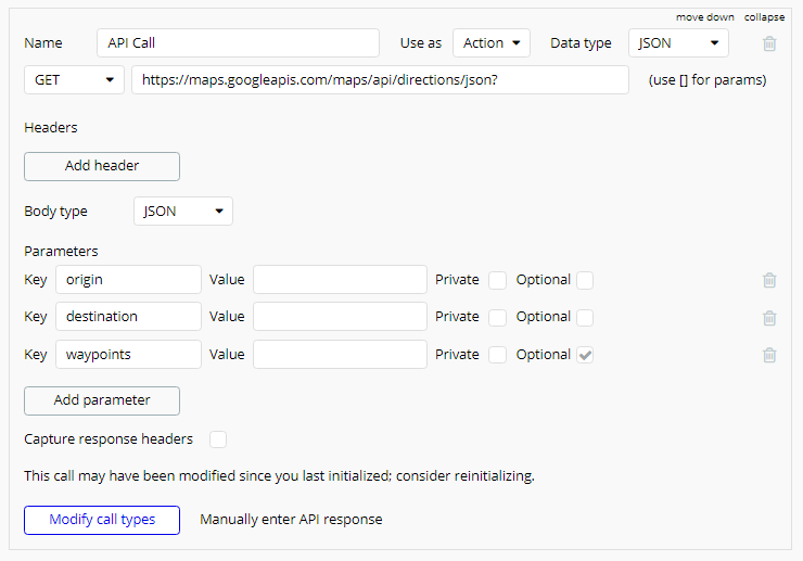 API Call Action
