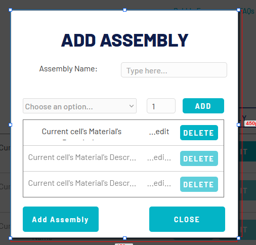 assembly popup