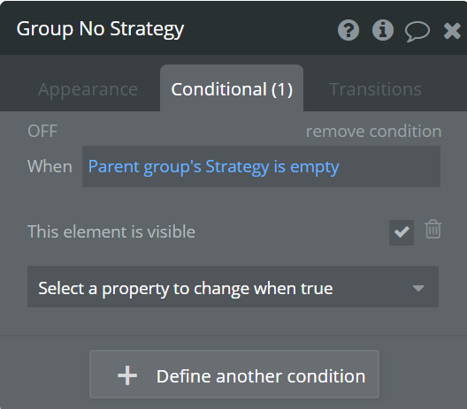 group no strategy -conditional