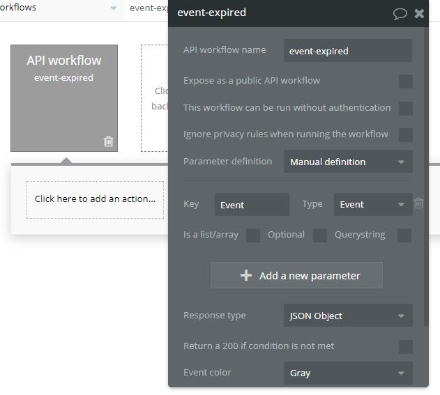 API workflow - step1
