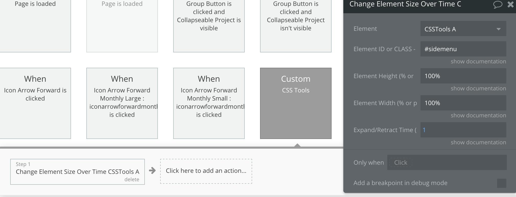 Side menu vertical scroll - Responsiveness - Bubble Forum