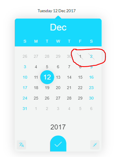 disabled dates