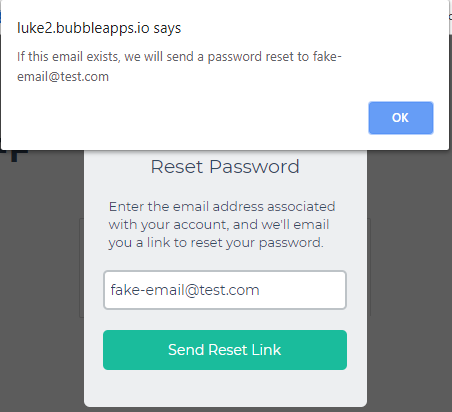 Security concern? 'Send password reset email' workflow gives