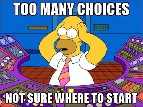 Homer too many options