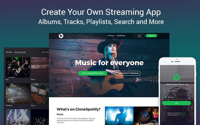 🎹 Streamy - Music Streaming | Spotify Template - Showcase