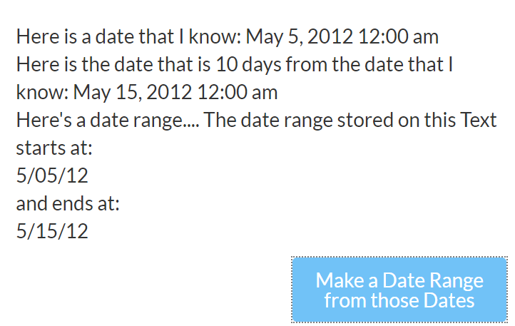 Date range only one input - Need help - Bubble Forum