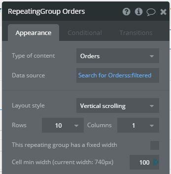 repeatingGroup