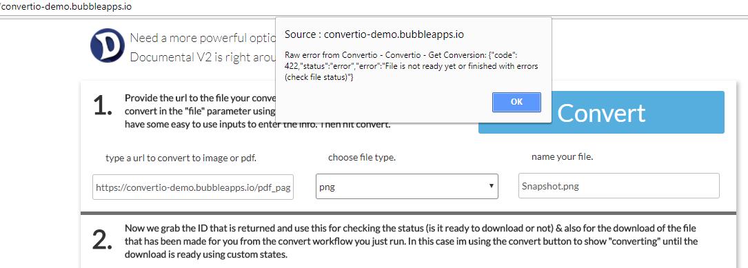 New Plugin] Convertio - Implemented - Bubble Forum
