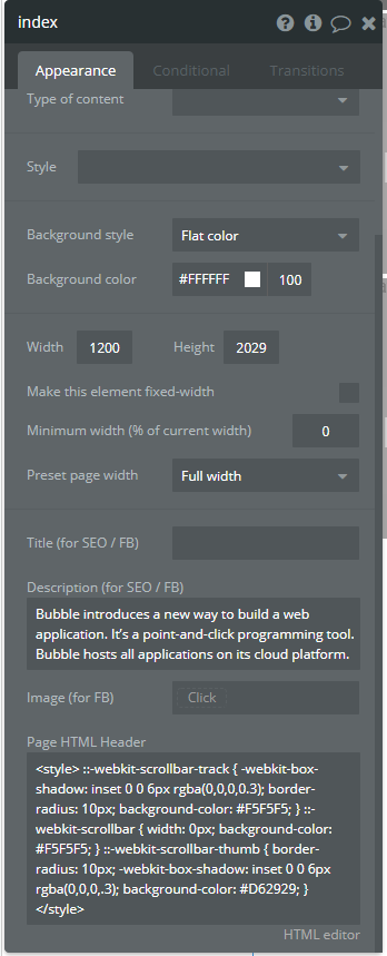 Remove Scrollbar from Horizontal Repeating Group - Idea - Bubble Forum