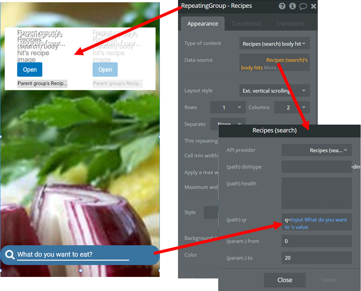 Food app - recipe search (API call) is super slow - Need