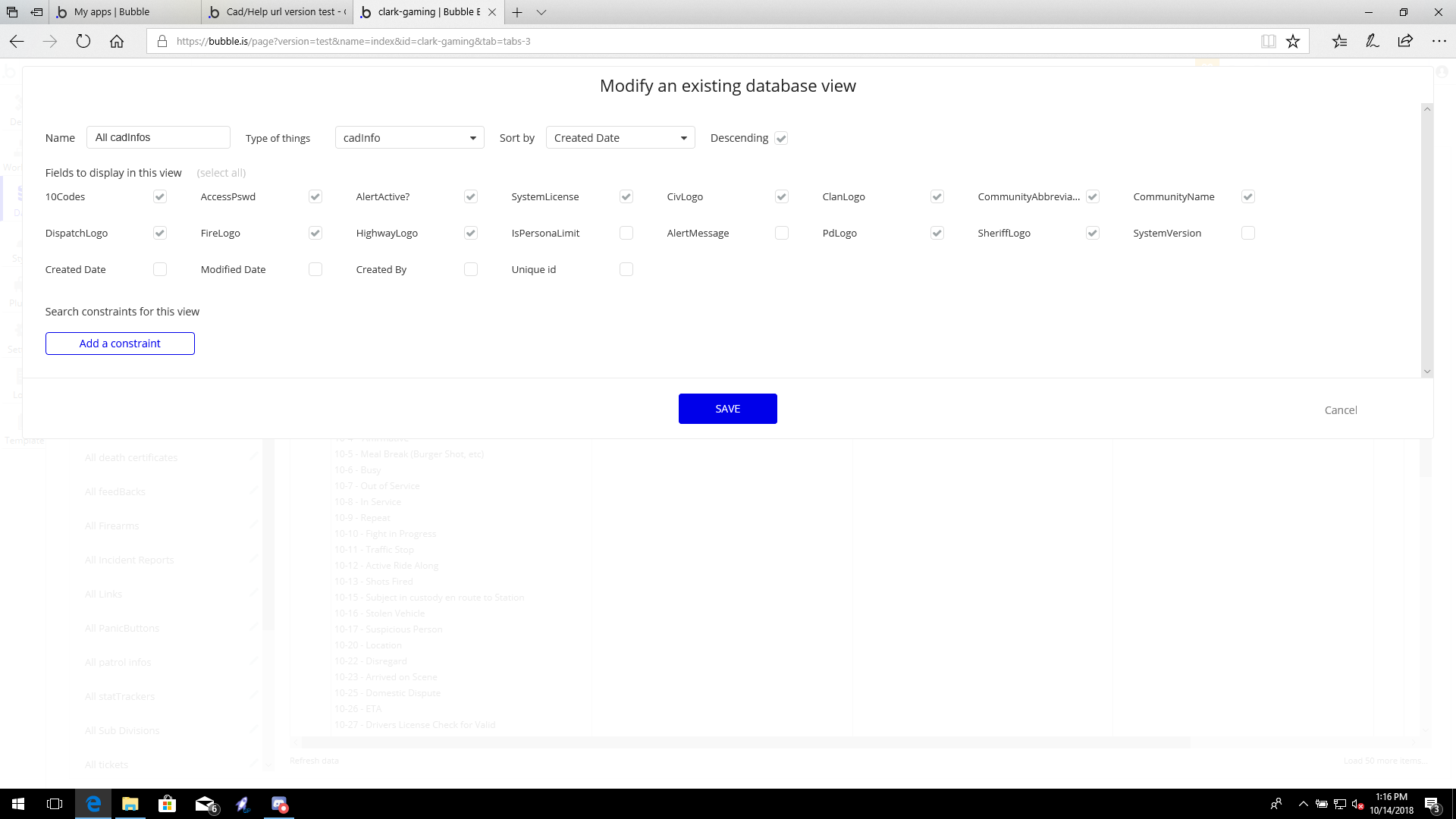 Cad/Help url version test - CAD / MDT / Roleplay - Bubble Forum